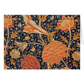 Diseño de Cray del papel pintado de William Morris Tarjeton
