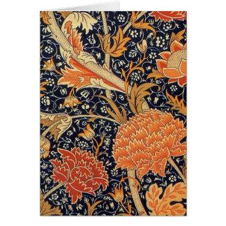 Diseño de Cray del papel pintado de William Morris Tarjeta De Felicitación