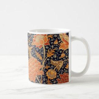 Diseño de Cray del papel pintado de William Morris Tazas De Café