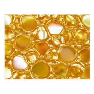 Diseño de cristal artsy del rombo del oro amarillo postal