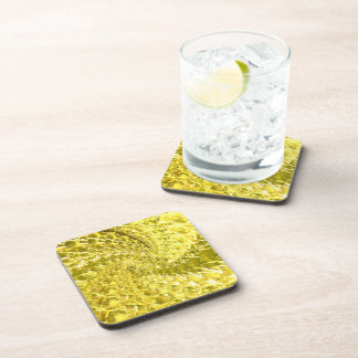 Diseño de cristal Crackled del remolino - Citrine Posavasos De Bebida