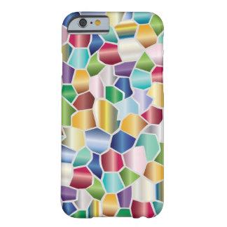Diseño de cristal de la mancha del mosaico funda barely there iPhone 6