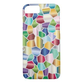 Diseño de cristal de la mancha del mosaico funda iPhone 7
