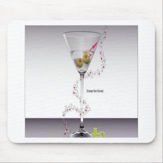 Diseño de cristal de Martini Alfombrilla De Ratón