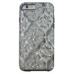 Diseño de cristal de plata adornado funda de iPhone 6 tough