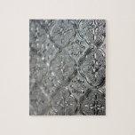 Diseño de cristal de plata adornado puzzle