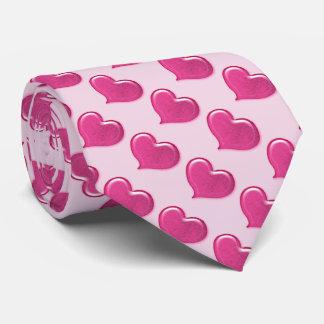 Diseño de cristal del corazón del amor - rosa corbatas personalizadas