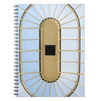 Diseño de cristal del tejado libro de apuntes