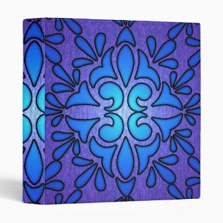 "Diseño de cristal púrpura azul del estilo de carpeta 1"""