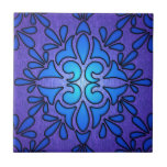 Diseño de cristal púrpura azul del estilo de Stain Azulejo Ceramica