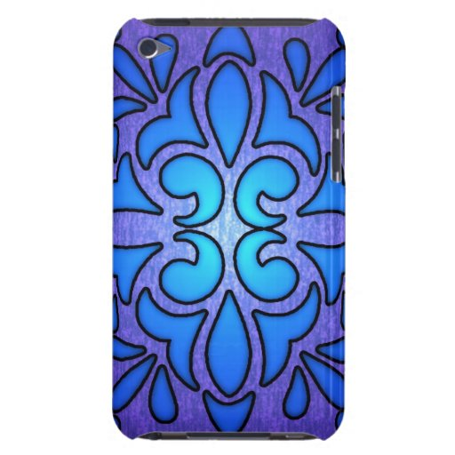 Diseño de cristal púrpura azul del estilo de Stain Case-Mate iPod Touch Cobertura