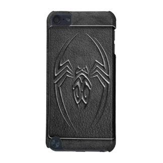 Diseño de cuero de la araña - negro funda para iPod touch 5G