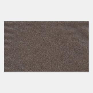 Diseño de cuero falso pegatina rectangular