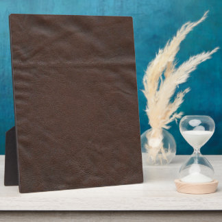 Diseño de cuero falso placa de plastico