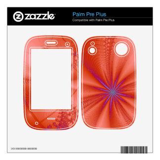 Diseño de cuero rojo del fractal palm pre plus skin