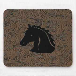 Diseño de cuero W/Horse Mousepad principal de la i
