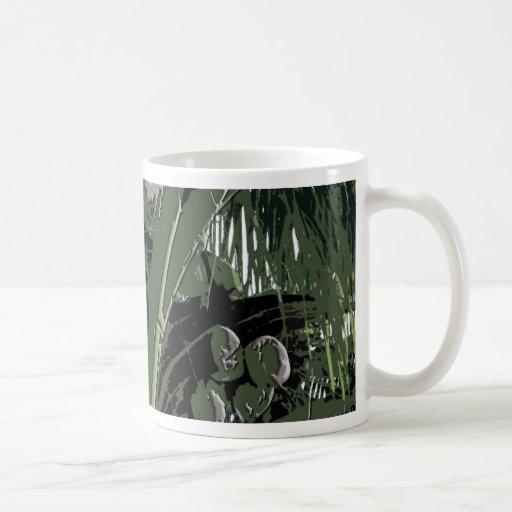 Diseño de Digitaces de las palmas de coco Tazas