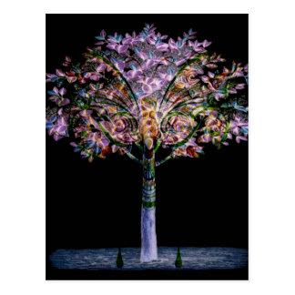 Diseño de Digitaces del árbol de la fantasía Postales
