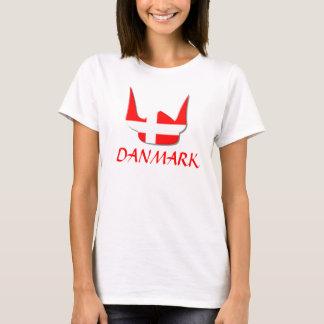 Diseño de Dinamarca Danmark de la bandera de Playera