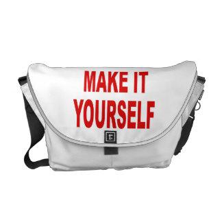 Diseño de DIY la su propia bolsa de mensajero Bolsa De Mensajeria