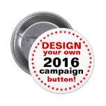 Diseño de DIY que su propio rojo del Pin del botón