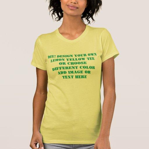 Diseño de DIY su propia camiseta amarilla o cualqu