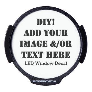 Diseño de DIY su propia etiqueta V01 de la ventana Decal LED Para Ventana