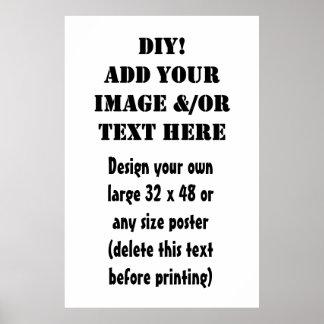 Diseño de DIY su propio artículo de encargo del re Póster