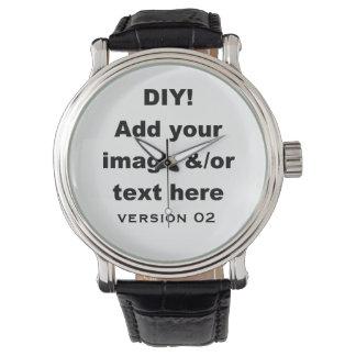Diseño de DIY su propio cuero de encargo del Reloj De Mano