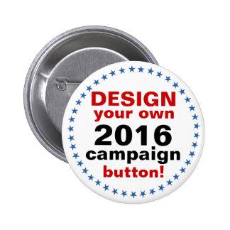 Diseño de DIY sus propias estrellas azules de la Pin Redondo De 2 Pulgadas
