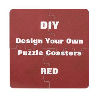 Diseño de DIY sus propios posavasos de puzzle de