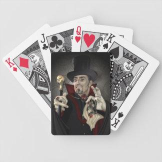 Diseño de Drácula de la cuenta Barajas De Cartas