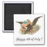 Diseño de Eagle del Día de la Independencia del vi Iman De Frigorífico