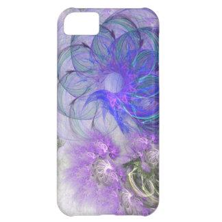 Diseño de encaje púrpura y azul del fractal de la  funda para iPhone 5C