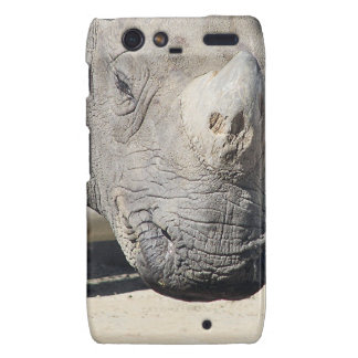 Diseño de encargo de la foto de los rinocerontes motorola droid RAZR fundas