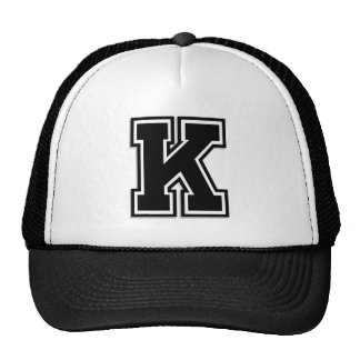 """Diseño de encargo de la letra """"K"""" Gorras"""