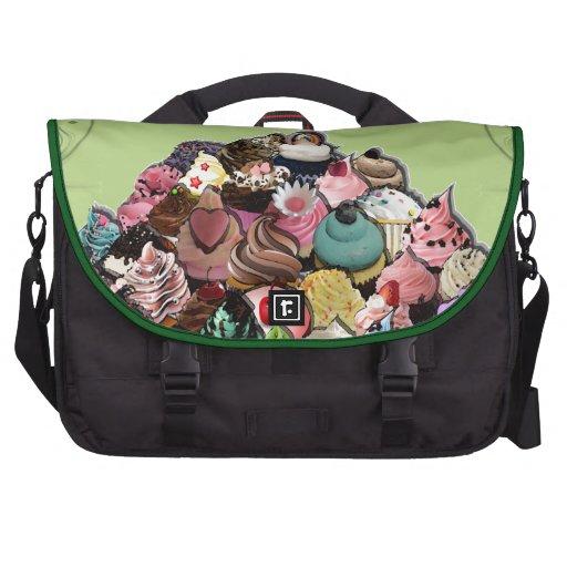 Diseño de encargo de la magdalena (verde) bolsas de portátil