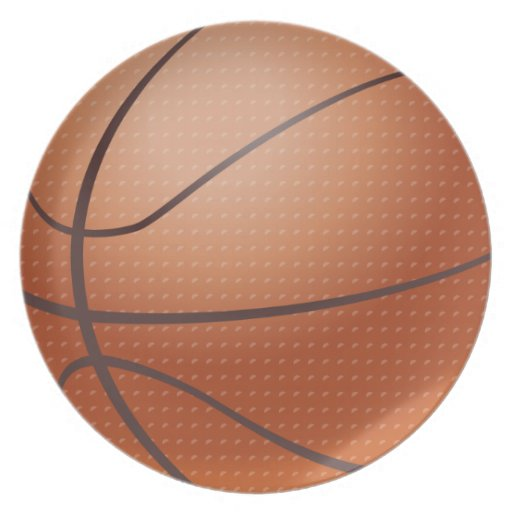 Diseño de encargo del baloncesto plato para fiesta
