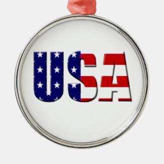 Diseño de encargo del logotipo de los E.E.U.U. Adorno Redondo Plateado