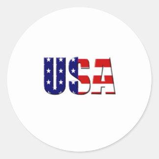 Diseño de encargo del logotipo de los E.E.U.U. Pegatina Redonda