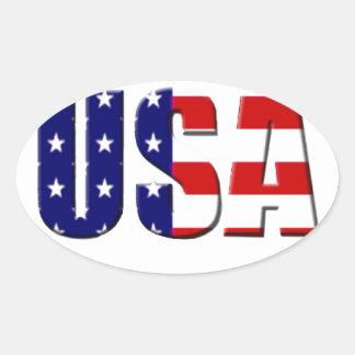 Diseño de encargo del logotipo de los E.E.U.U. Calcomanía De Ovaladas