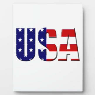 Diseño de encargo del logotipo de los E.E.U.U. Placa Para Mostrar