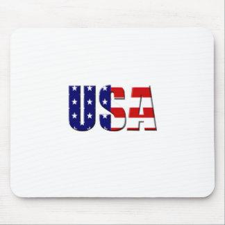 Diseño de encargo del logotipo de los E.E.U.U. Alfombrillas De Raton