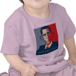 Diseño de encargo del texto de Obama Camiseta