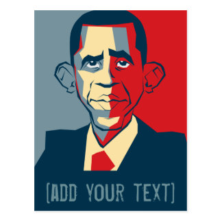 Diseño de encargo del texto de Obama Postales