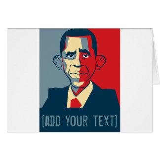 Diseño de encargo del texto de Obama Felicitaciones