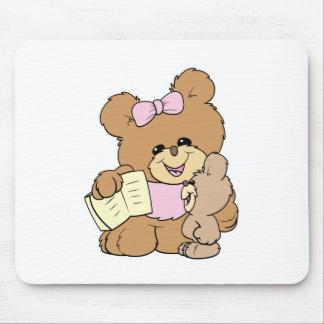 diseño de enseñanza del oso de peluche del bebé de alfombrilla de ratones