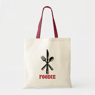 Diseño de Foodie en la bolsa de asas del ultramari