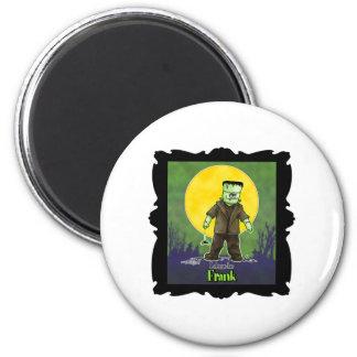 Diseño de Frankenstein Halloween Imán Redondo 5 Cm