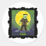 Diseño de Frankenstein Halloween Pegatina Redonda